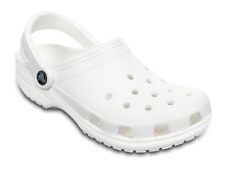 Crocs Uomo Classic altezza Caviglia gomma Sandali Bianco 11m