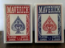 Maverick Playing Cards Poker Size Standard Index Deck Red/Blue [NEW]