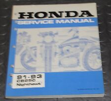 NOS OEM Honda Service Shop Manual NEW 91-93 CB250 Nighthawk  CB 250