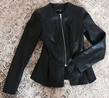 Zara Zip Hip Length Leather Coats & Jackets for Women
