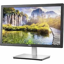 "24"" AOC HDMI VGA Slim LED IPS LCD Monitor Full HD 1080p Widescreen I2476VWM"