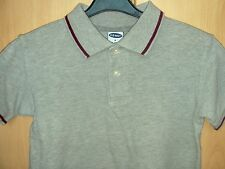 OLD NAVY GREY POLO SHIRT WITH MAROON TRIM SIZE 4 (APPROX 4/5 YEARS)
