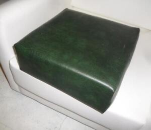 Seat Cushion in Premium  Green Faux Leather With Blue Firm Foam