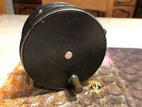 Vintage Hardy Perfect 4 Inch Wide Body R H W Salmon Spey Fly Reel