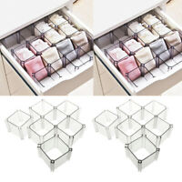 12x Partition Honeycomb Socks Bras Belts Scarves Drawer Closet Shelf Divider