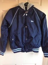 BNWT, LONSDALE, HOODED, BOMBER /BASEBALL JACKET, SIZE 12, LADIES, TICKET 79.99
