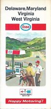 1969 ESSO HUMBLE OIL Road Map DELAWARE MARYLAND WEST VIRGINIA Washington DC