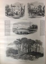 Bocetos de Hampstead Heath, antiguo imprime 1871, Original
