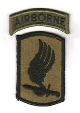 """173rd AIBORNE BRIGADE """"Patch & Tab"""" Subdued (Fabrication 1970-1980)"""