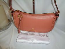 MICHAEL KORS CAMDEN XS POUCHETTE LEATHER SHOULDER HANDBAG BAG SUNSET PEACH
