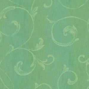 Gibby Aqua Leafy Scroll Wallpaper by Chesapeake  CHR11665  per Double Roll