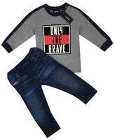 NEW DIESEL Kids RRP 105 AGE 24 MONTHS Baby Designer Jeans Tshirt Top B308