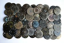 Lot of 80 Wrist Watch Metal Black dials for Altered Art, Steampunk # WWD 12