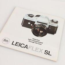 """* LeicaFlex SL """"Selective Light Measurement Through The Lens"""" Literature"""