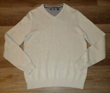 Men's IZOD oatmeal colored v-neck pull over sweater    (Medium)    NWT    $60