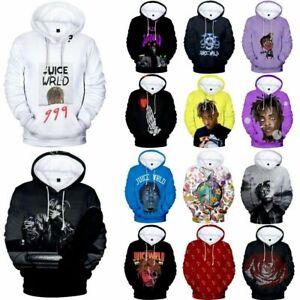 Juice Wrld Unisex Kids Adult Hooded Hoodies Hip Hop Rapper 3D Print Jumper Tops