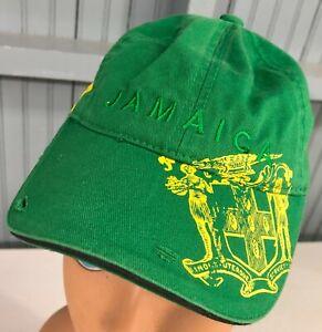 Jamaica Green Lion Flag YOUTH Strapback Baseball Cap Hat