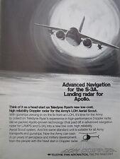 2/1972 PUB TELEDYNE RYAN DOPPLER RADAR LOH AERIAL SCOUT S-3A APOLLO ORIGINAL AD