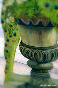 Dollhouse miniature original unique Parfonova beauty peacock birds Dummy Board