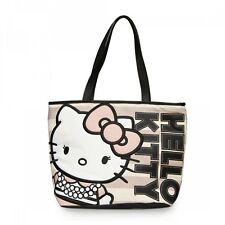 New LOUNGEFLY Hangbag Bag HELLO KITTY Tote Purse SANRIO Canvas Pink Stripe Pearl