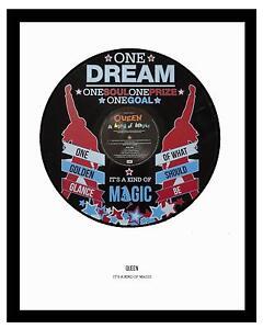 QUEEN  - MEMORABILIA - IT'S A KIND OF MAGIC - VINYL RECORD ART - Ideal Gift