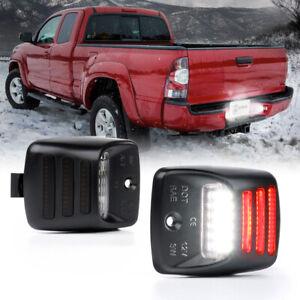 2x LED License Plate Light RED LED TUBE Full For Toyota Tacoma Tundra 2005-2015