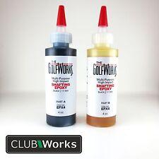 High impact shafting epoxy - Golf shaft glue/adhesive - 2 x 4oz bottles