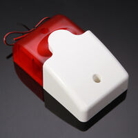 Mini 12V Strobe Flashing Light Siren Home Security Wired Flash 108dB Sound Alarm