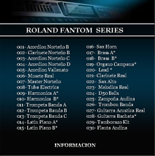 FABESIS Latin Samples para Roland Fantom Xa