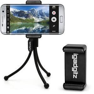 Mini Flexible Table Top Tripod with Pocket Belt Clip + Premium Smartphone Mount