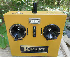 Vintage Kraft Sport Series RC Transmitter Radio Control airplane for gas powered