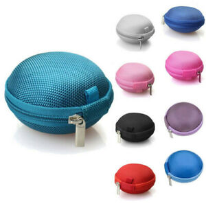 Mini Earphone Pouch Bag Nylon Case Card USB Cabel Earbuds Storage Carry Headset