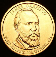 2011 P James Garfield ~ Presidential Dollar ~ Pos A ~ Coin from U.S. Mint Roll