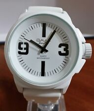 Omax H005E33A Men's Watch White Dial White Silicone Strap Classic and Clean Look