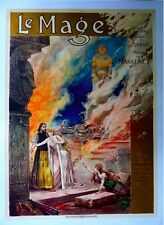 """Vintage French Opera Poster """"LE MAGE"""" on Linen"""