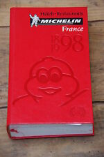 Ancien guide rouge pneu Michelin 1998