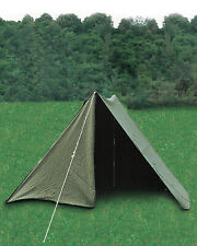 East German Army Cotton Canvas Bell 2 Men Tent Shelters with Pegs & Poles