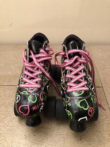 Size 8 Pacer Heart Throb Roller Skates Women's Ladies Quad Heartthrob Girls
