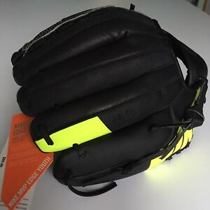 "NEW Nike MVP Edge Youth 11.5"" Baseball Glove Black Yellow RHT Righty Throw NWT"
