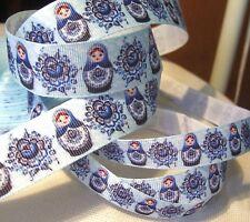 POUPÉE RUSSE Bleu ** 16 / 25 mm ** RUBAN GROS GRAIN / au choix - vendu au mètre