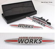 E461 John Cooper Works 3D Kühlergrill Emblem Badge car Sticker Frontgrill metall