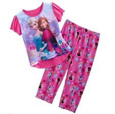 New Girls Pyjamas Sleepwear PJs Frozen Elsa and Anna Size 2-10 years