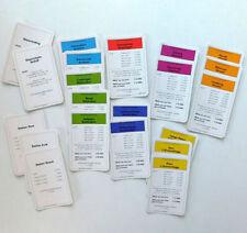 Parker Board Game Cards