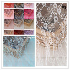"""Floral Lace Fabric 59"""" Wide Chantilly Wedding Lace Fabric Bridal Lace Fabric 1 M"""