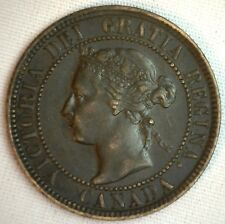 1901 Copper Canadian Large Cent Coin 1-Cent Canada VF a20