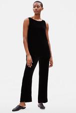 Eileen Fisher Velvet Straight Pull On Pant, Black, XL, NWT