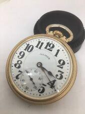 Illinois Bunn Special 60 Hr Hour Railroad Pocket Watch 21j W/ Case Running Nice!