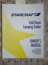 StarCraft Folding popup camper Trailer Owners Manual Vintage 1993 Americana 34