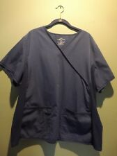 2 Cherokee Pro Line Scrub Tops, Navy, 2XL, Stretchy Sides, Front Pockets NWOT