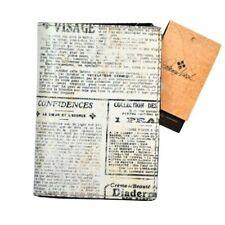 Patricia Nash Leather Passport Holder Case Travel Wallet Newspaper Print New Prs